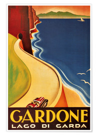 Premium poster  Italy - Gardone (Lago di Garda) - Travel Collection