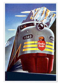 Premium poster  Canadian Pacific train