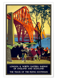 Premium poster  Forth Bridge London Railway - Travel Collection