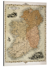 Aluminium print  Ireland around 1850 - C. Montague
