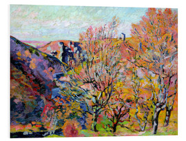 Foam board print  The valley of the Sedelle in Crozant, 1898 - Jean Baptiste Armand Guillaumin
