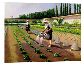 Acrylic print  The Gardeners - Gustave Caillebotte