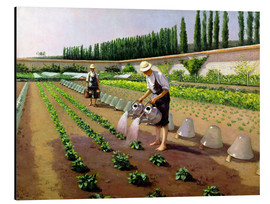 Aluminium print  The Gardeners - Gustave Caillebotte