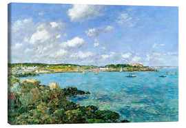 Canvas print  The Bay of Douarnenez - Eugène Boudin