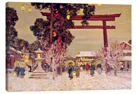 Canvas  View of Shinto Shrine, c.1889 - Sir Alfred East