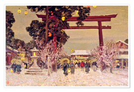 Premium poster  View of Shinto Shrine, c.1889 - Sir Alfred East