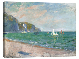Canvas  Boats under the cliffs of Pourville - Claude Monet