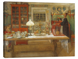 Canvas  Getting Ready for a Game - Carl Larsson