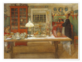 Premium poster  Getting Ready for a Game - Carl Larsson