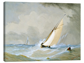Canvas print  The Miranda comes in strong wind - Barlow Moore