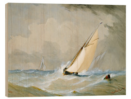 Wood print  The Miranda comes in strong wind - Barlow Moore