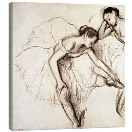 Canvas print  Two dancers resting - Edgar Degas