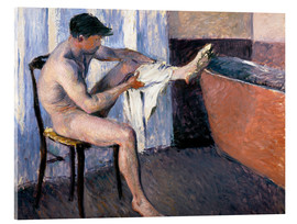 Acrylic print  Man drying his leg - Gustave Caillebotte