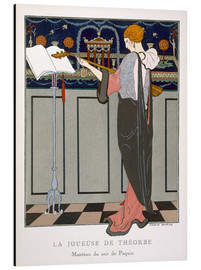 Aluminium print  The Theorbo Player, 1920s - Georges Barbier
