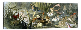 Canvas print  Water-Lilies and Water Fairies - Richard Doyle