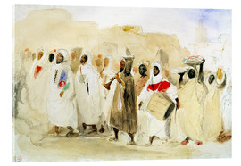 Acrylic glass  Procession of Musicians in Tangier - Eugene Delacroix