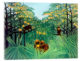 Acrylic print  Apes in the Orange Grove - Henri Rousseau