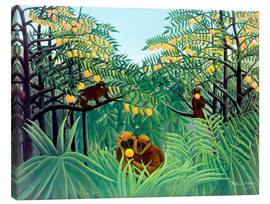 Canvas print  Apes in the Orange Grove - Henri Rousseau