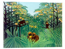 Foam board print  Apes in the Orange Grove - Henri Rousseau