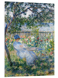 Foam board print  La Terrasse (The Terrace) - Claude Monet