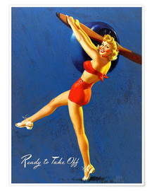 Premium poster  Pin Up - Ready to Take Off - Al Buell