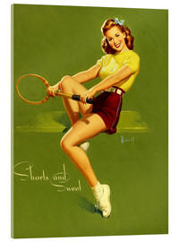 Acrylic print  Pin Up - Shorts and Sweet - Al Buell