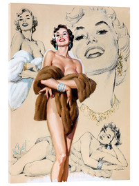 Acrylic print  Glamour Pin Up study - Al Buell