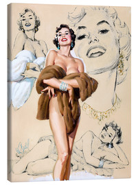 Canvas print  Glamour Pin Up study - Al Buell