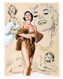 Premium poster  Glamour Pin Up study - Al Buell