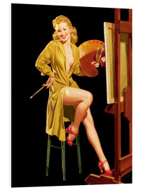 Foam board print  Pin up with a color palette - Al Buell