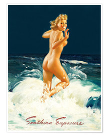 Premium poster  Pin Up - Southern Exposure - Al Buell