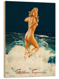 Wood print  Pin Up - Southern Exposure - Al Buell