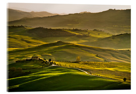Acrylic print  Evening light in Tuscany - Andreas Wonisch