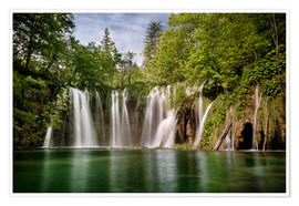 Premium poster  Paradise Waterfall in Plitvice - Andreas Wonisch