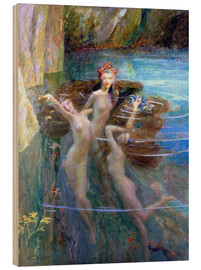 Wood print  Water Nymphs 1927 - Gaston Bussiere