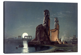 Canvas  The Colossi of Memnon, Thebes - Carl Friedrich Heinrich Werner