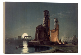 Wood print  The Colossi of Memnon, Thebes - Carl Friedrich Heinrich Werner