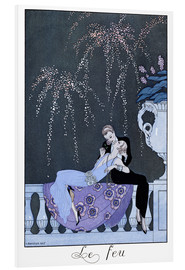 Foam board print  The Fire - Georges Barbier