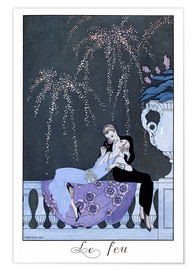 Premium poster  The Fire - Georges Barbier