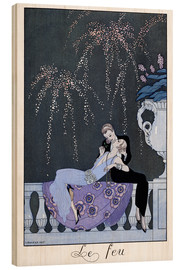 Wood print  The Fire - Georges Barbier