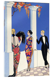Acrylic glass  The Taste of Shawls, 1922 - Georges Barbier