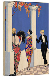 Wood print  The taste of the scarf, 1922 - Georges Barbier
