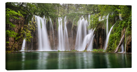 Canvas print  Paradise like waterfall in plitvice - Andreas Wonisch