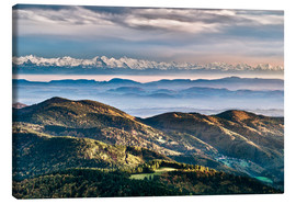 Canvas print  Black Forest Alps Panorama - Andreas Wonisch