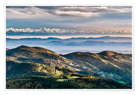 Premium poster Black Forest Alps Panorama