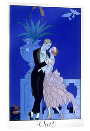 Acrylic print  Yes! 1921 - Georges Barbier