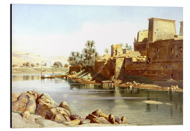 Aluminium print  Temple of Isis at Philae - Carl Friedrich Heinrich Werner