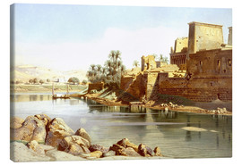 Canvas  Temple of Isis at Philae - Carl Friedrich Heinrich Werner