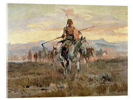 Acrylic print  Stolen horses, 1911 - Charles Marion Russell