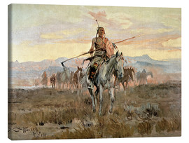 Canvas  Stolen Horses, 1911 - Charles Marion Russell